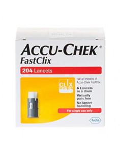 Accu Chek FASTCLIX Bte 204 Lancettes Stériles