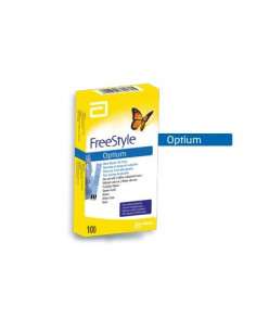 ABBOTT FREESTYLE OPTIUM Glycémie Bte 50x2 Electrodes