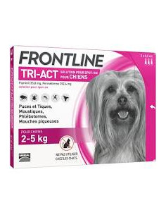 FRONTLINE TRI ACT CHIEN XS 2/5 kg 3 Pipettes